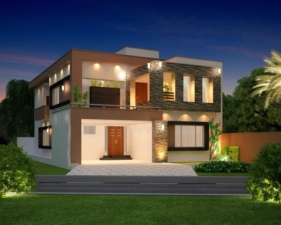 Home design 3d front elevation house design w a e company Home design architecture 3d