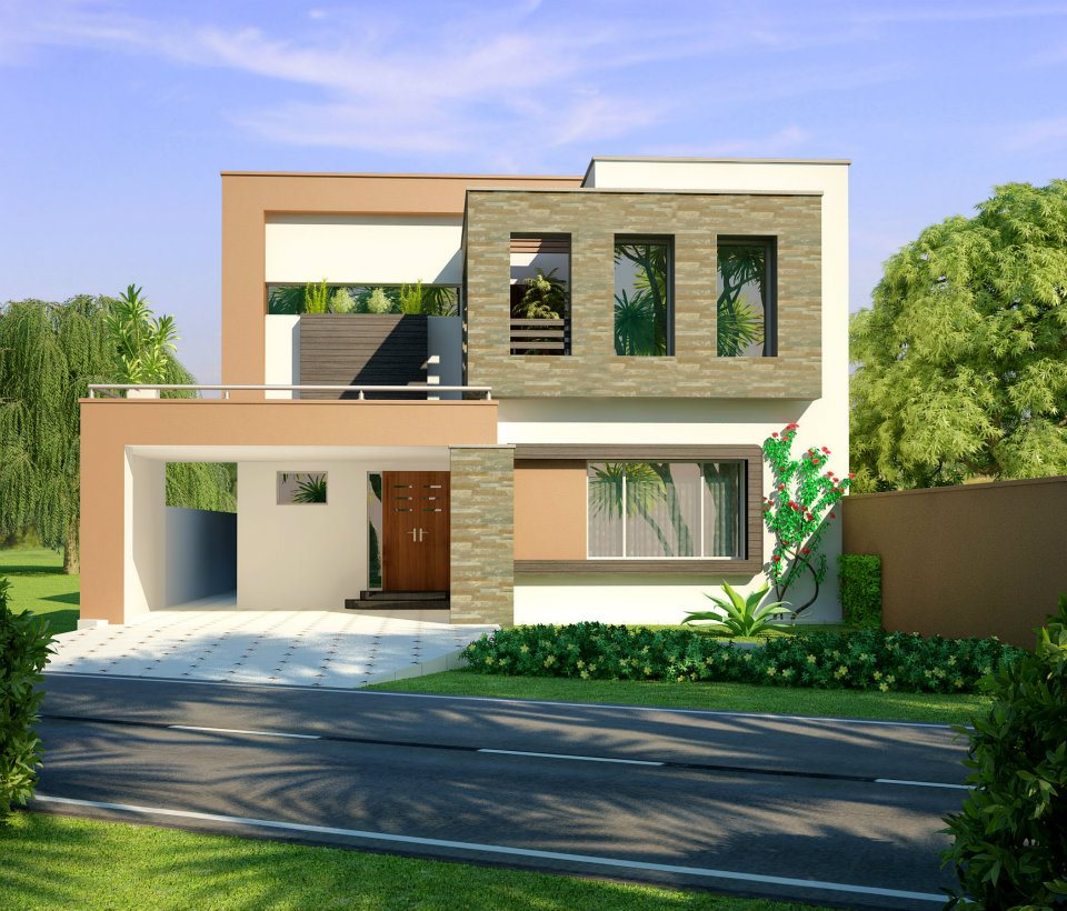 Home design 3d front elevation house design w a e company for Home design ideas 3d